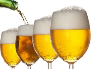Uma cerveja por dia.